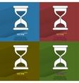 Color set Sand clock Glass timer Flat modern web vector image