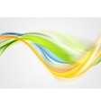 Colorful smooth blurred waves background vector image vector image