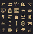 compensator icons set simple style vector image vector image