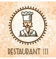 Cooking poster sketch vector image vector image