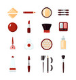 cosmetics icon set vector image vector image