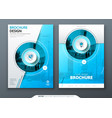 cover set blue template for brochure banner vector image vector image