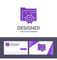 creative business card and logo template folder vector image vector image