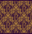 damask seamless pattern repeating background gold vector image