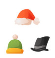 design of headgear and cap sign collection vector image