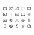 devices line icons desktop computers electronic vector image vector image