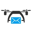 Drone Mail Icon vector image vector image