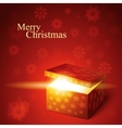 editable of magic gift box vector image vector image