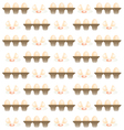 EGG pattern background vector image vector image