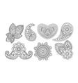 elegance vintage design elements floral hand vector image