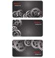 eps10 brochure business card banner metal glass vector image vector image