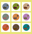 flat icons set of drought and plant concept on vector image vector image