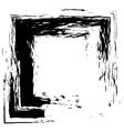 Frame square ink grunge background vector image vector image