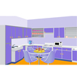 furniture on kitchen by lilac set modern vector image vector image
