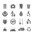 Garbage icons set vector image vector image
