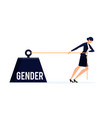 gender business concept vector image