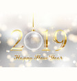gold and silver happy new year background vector image vector image