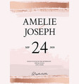 gold glitter wedding card tender rose gold soft vector image