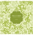 Green underwater seaweed frame seamless pattern vector image