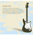 Guitar Page vector image vector image