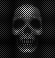 Halftone dot skull background vector image vector image