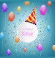 happy birthday composition with blurred background vector image