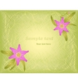 Hatch background with floral ornament and pink vector image vector image