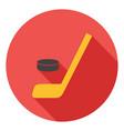 hockey icon hockey stick icon hockey sport symbol vector image