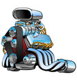 hot rod race car engine cartoon vector image vector image