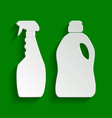 household chemical bottles sign paper vector image vector image