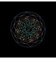 Indian geometric mandala black background vector image