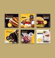 instagram food collection vector image vector image