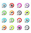 jogging and workout monitoring apps icons set vector image vector image