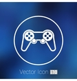 joystick icon Rounded squares button console vector image vector image