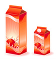 Juice carton with various fruits vector image