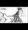 las palmas spain city map in retro style outline vector image vector image
