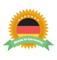 Made in Germany label or badge Made in Germany vector image vector image