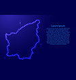 map san marino from luminous blue star space vector image vector image