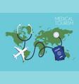 medical tourism flat design modern concept vector image vector image