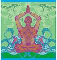 men in meditation vector image