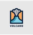 mountain eruption volcano logo vector image