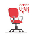 office chair business manager empty seat vector image vector image
