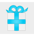 present with blue ribbon vector image vector image
