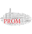 prom word cloud concept vector image vector image