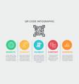 qr code infographic template 5 option website vector image vector image