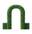realistic park sculpture arch nature green shrub vector image