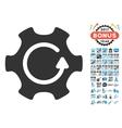 Rotate Gear Icon With 2017 Year Bonus Symbols vector image vector image