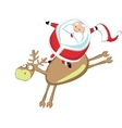 Santas rodeo vector image vector image