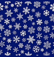 seamless pattern snowflakes with shadows vector image vector image