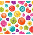 Seamless print with colorful buttons vector image vector image